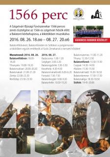 1566 PERC – 23 KIKÖTŐ – 23 KONCERT  - GUINNESS REKORD KÍSÉRLET